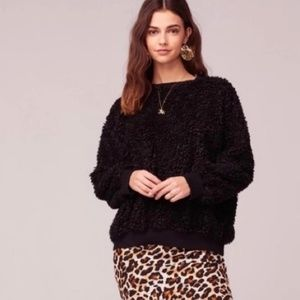 BAND OF GYPSIES Oversized Cozy Faux Fur Sweater